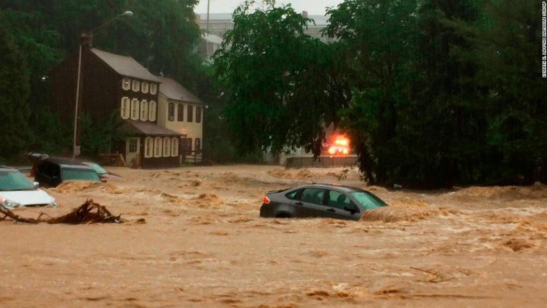 Flash floods again rip through Ellicott City, Maryland; 1 ...