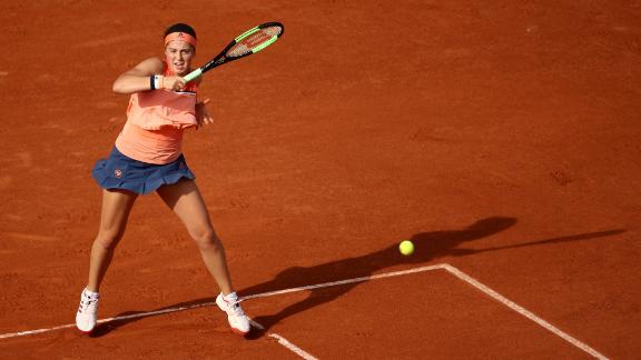 On day one, defending champion Jelena Ostapenko was dethroned by Kateryna Kozlova.