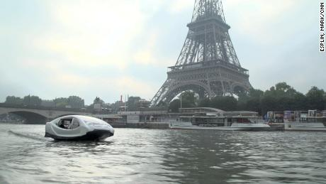 French Startup company Sea bubbles water taxis, Paris.