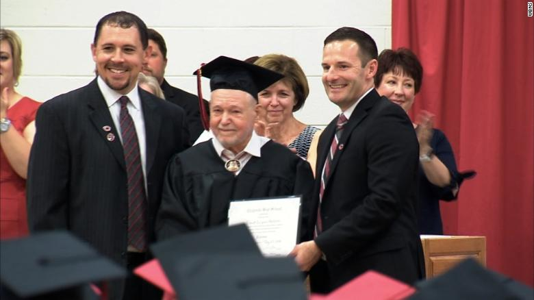 WWII veteran receives his high school diploma