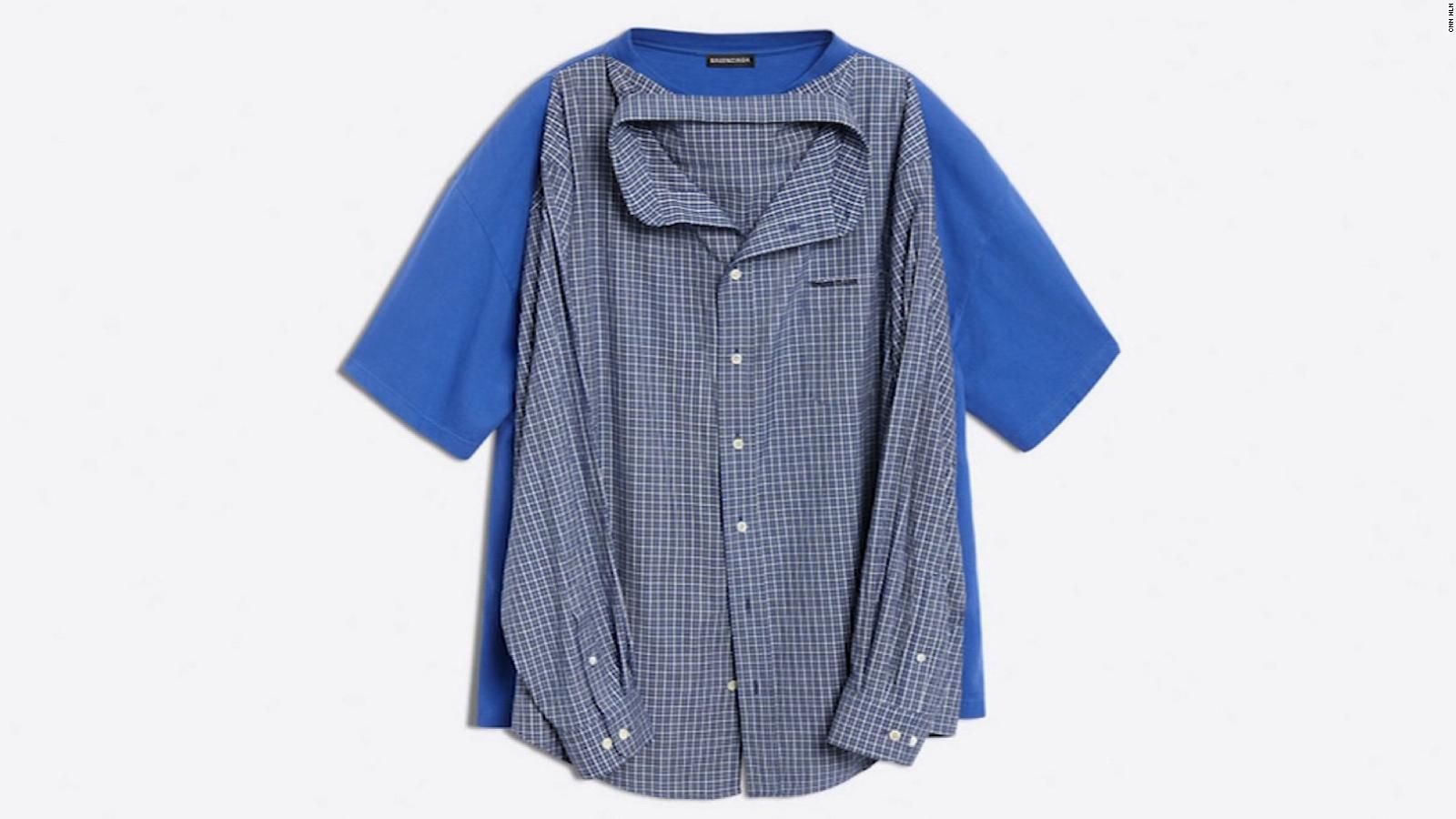 Luxury brand sells $1,300 T-shirt/shirt combo - CNN Video