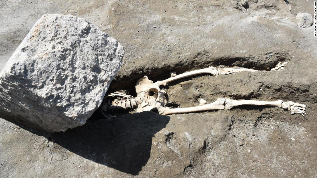 Ancient Pompeii victim not crushed by stone block, after all, archaeologists say