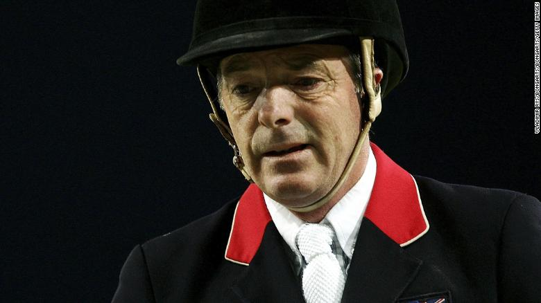 AACHEN, GERMANY - AUGUST 31: John Whitaker of Great Britain on Peppermill looks dejected after competing during the Jumping team final at the 2006 World Equestrian Games on August 31, 2006 in Aachen, Germany.  (Photo by Vladimir Rys/Bongarts/Getty Images)