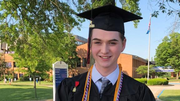 Bales graduated from Holy Cross High School on May 25.
