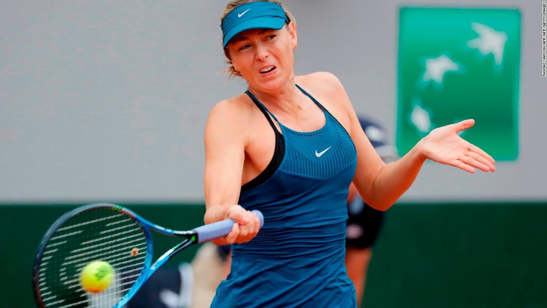 Maria Sharapova also made her return to Roland Garros on the third day after a drug ban in 2016 and not receiving a wildcard last year.