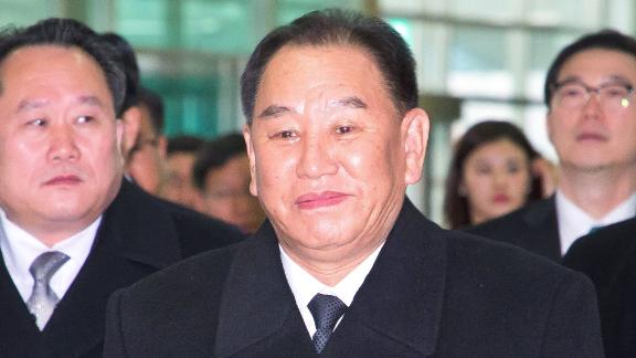 General Kim Yong Chol (C), who is in charge of inter-Korean affairs for North Korea