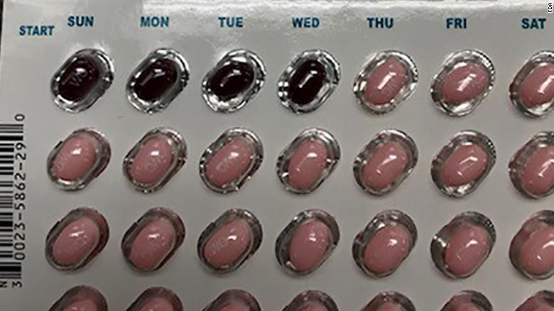Allergan released this image showing the incorrect packaging for birth-control treatment Taytulla.