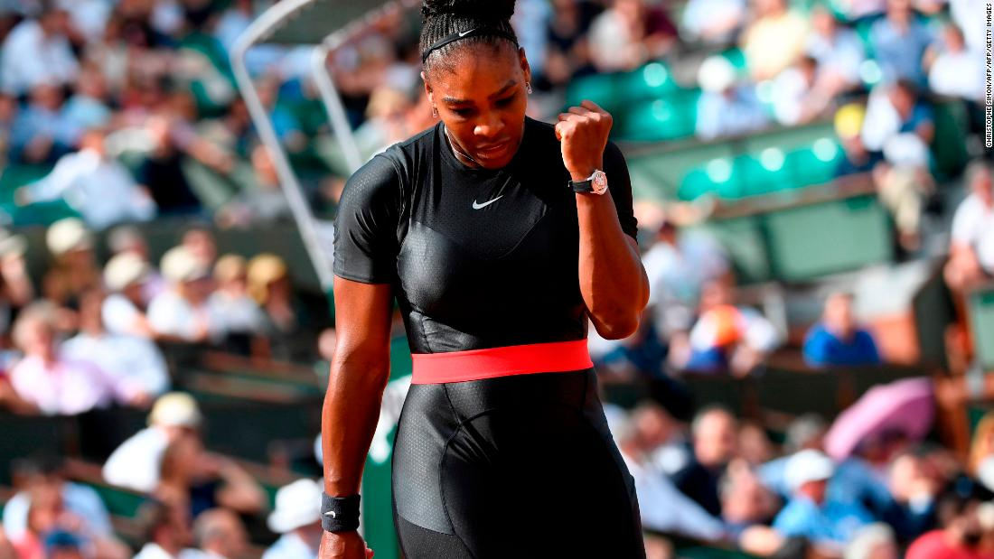 "The 23-time grand slam champion was playing in her first major since giving birth to her first child in September. ""I feel like a warrior princess in it,"" she told reporters. "" I'm always living in a fantasy world. I always wanted to be a superhero, and it's kind of my way of being a superhero."""