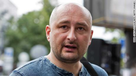 A handout file picture provided by Ukrainian news agency UNIAN on May 29, 2018 shows Russian journalist Arkadiy Babchenko on July 20, 2017 in Kiev.