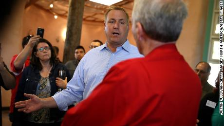 "Rep. Jeff Denham talks with constituents during a casual ""Coffee and Conversation"""