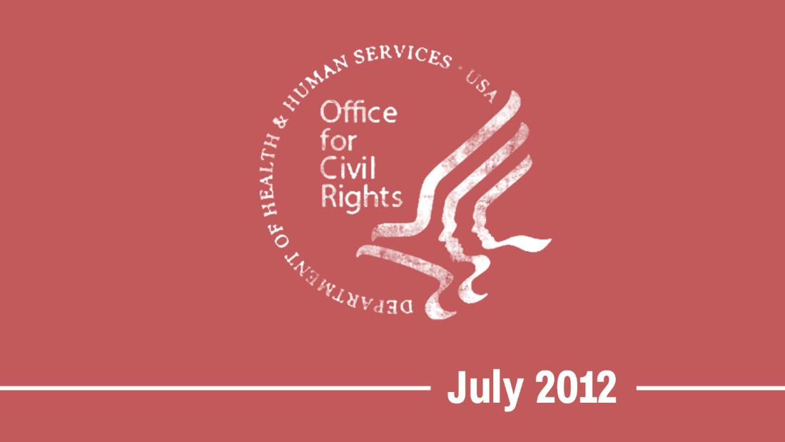"07/12/12 -- HHS's Office for Civil Rights announces that it will <a href=""https://www.scribd.com/document/102169872/HHS-Response-1557-7-12-12"" target=""_blank"">accept complaints alleging gender identity discrimination</a> under the ACA."