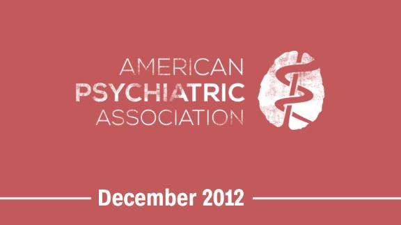 December 2012 -- The American Psychiatric Association approves an update to its diagnostic manual to eliminate gender identity disorder and replace it with gender dysphoria.