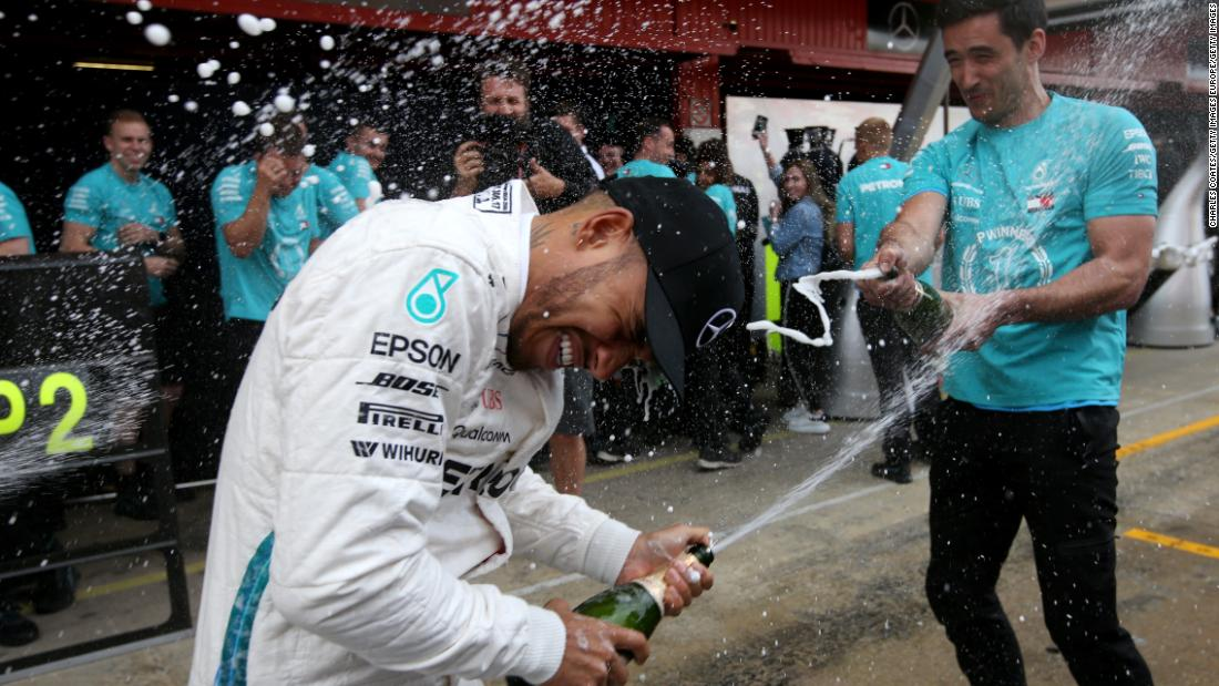 Hamilton -- 95 points<br />Vettel -- 78 points<br />Bottas -- 57 points