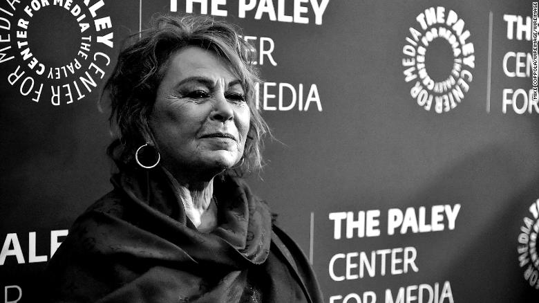 "NEW YORK, NY - MARCH 26:  EDITORS NOTE: (This image was converted to black and white) Actress Roseanne Barr attends The Paley Center For Media presents: An evening with ""Roseanne"" at The Paley Center for Media on March 26, 2018 in New York City.  (Photo by Mike Coppola/WireImage)"