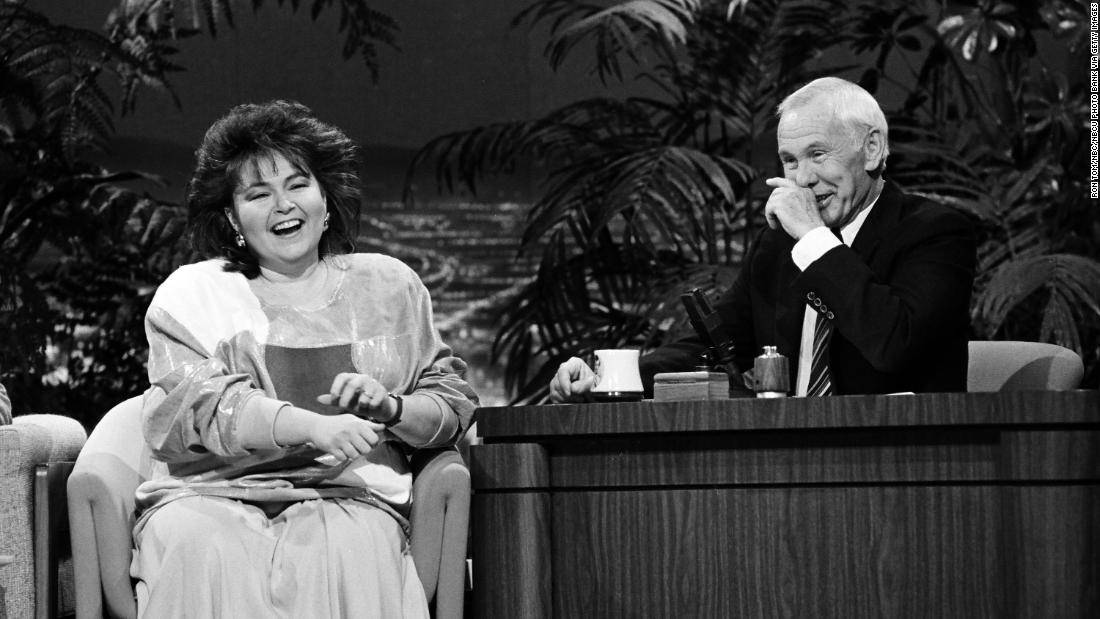 "Barr appears on ""The Tonight Show"" with Johnny Carson in January 1987. Barr did standup comedy during the 1980s and had an HBO special in 1986."