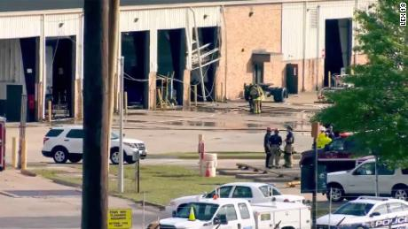 A Lexington, Kentucky, UPS building sustained significant damage in an explosion