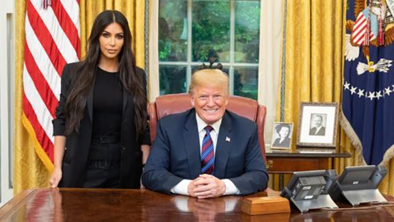 Kim Kardashian West met with President Trump in May 2018 to discuss prison reform.