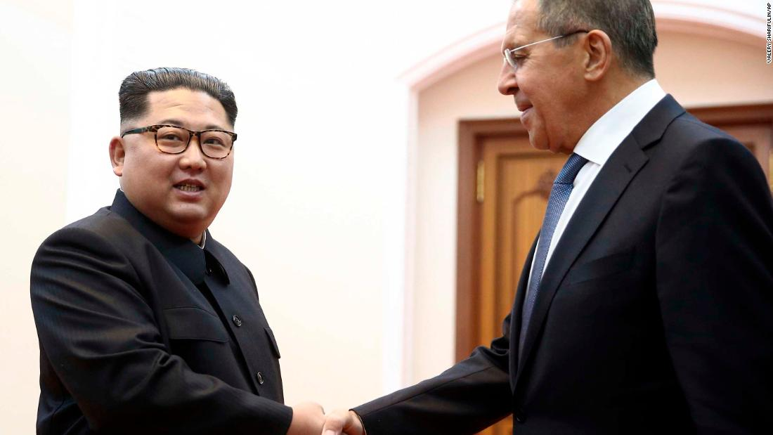 Image result for lavrov and kim jong un