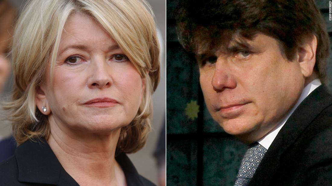 Trump floats Martha Stewart pardon, Rod Blagojevich commutation