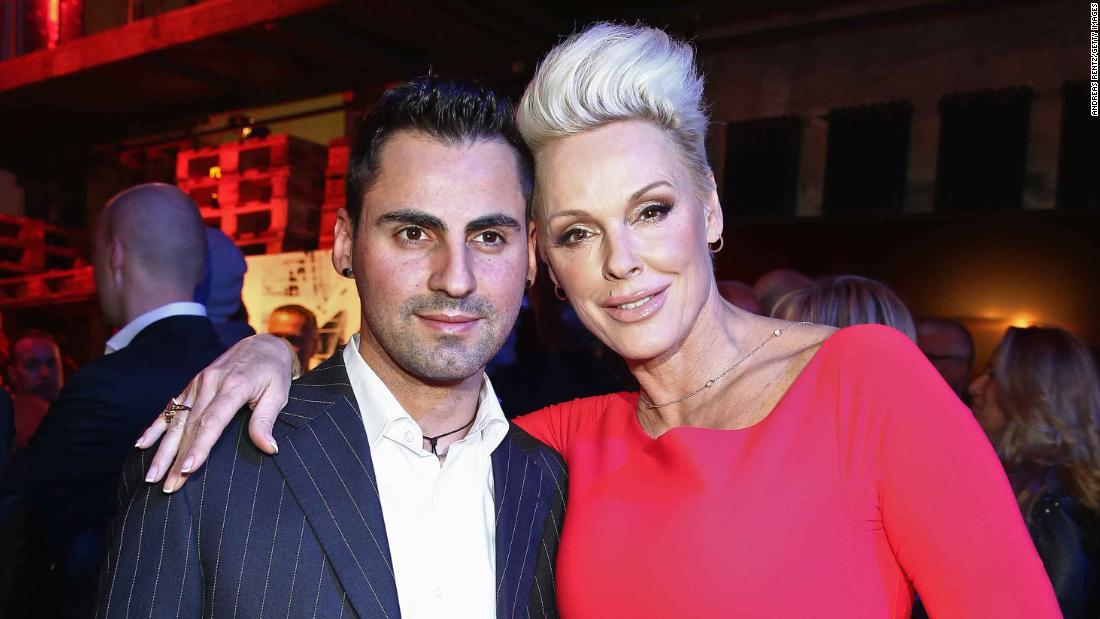 "Brigitte Nielsen <a href=""https://www.instagram.com/p/BjSyjHzHrj9/?hl=en&taken-by=realbrigittenielsen"" target=""_blank"">announced on Instagram in May 2018 </a>that she was expecting at the age of 54. The Danish actress/model, the mother of four adult sons, married Mattia Dessi (pictured here) in 2006."