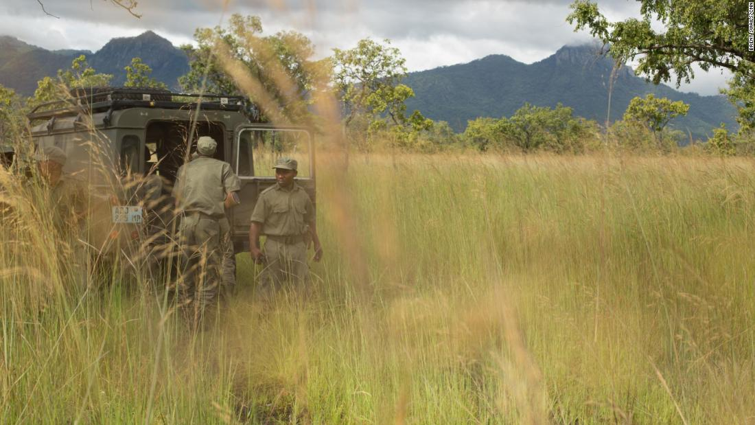 Rangers on patrol in Niassa Reserve.