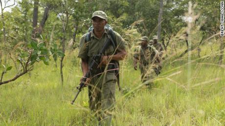 A ranger is seen in Mozambique's Niassa Reserve.
