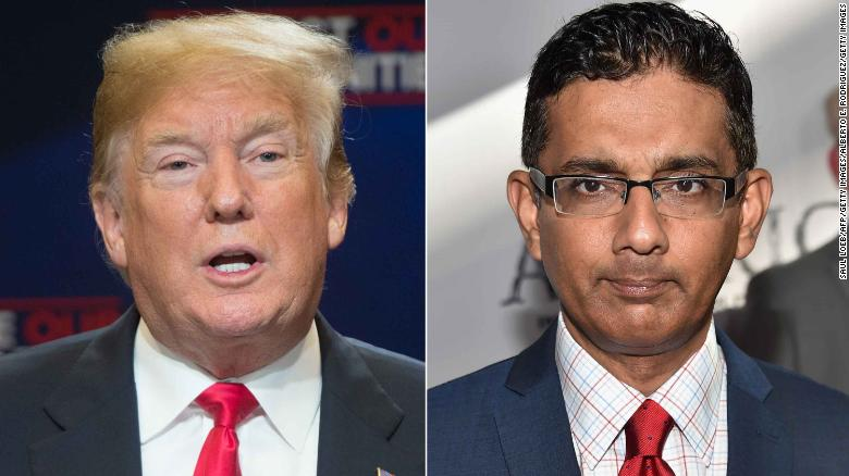 Trump pardons Dinesh D'Souza -- and hints at more celebrity pardons