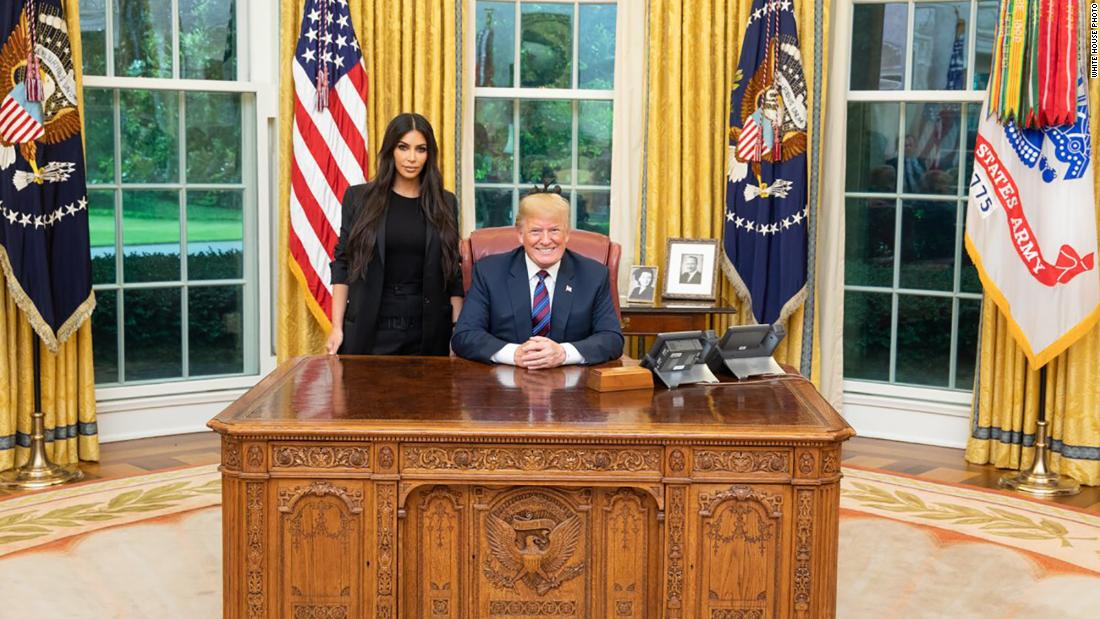 "US President Donald Trump is joined by celebrity Kim Kardashian West in the White House Oval Office on Wednesday, May 30. ""Great meeting with @KimKardashian today, talked about prison reform and sentencing,"" the President tweeted along with the photo. Kardashian West <a href=""https://www.cnn.com/2018/05/30/politics/kim-kardashian-jared-kushner-white-house/index.html"" target=""_blank"">has been advocating for a pardon</a> for Alice Marie Johnson, a low-level drug offender who has served more than 20 years in prison."