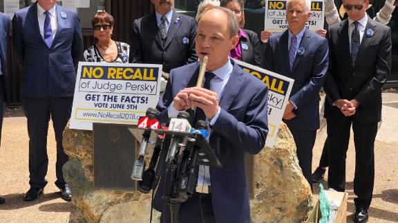 Aaron Persky at news conference