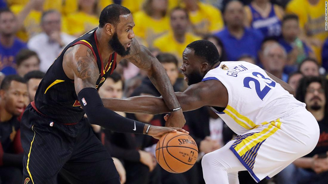 James had 24 points in the first half of Game 1, making nine of 11 shots.