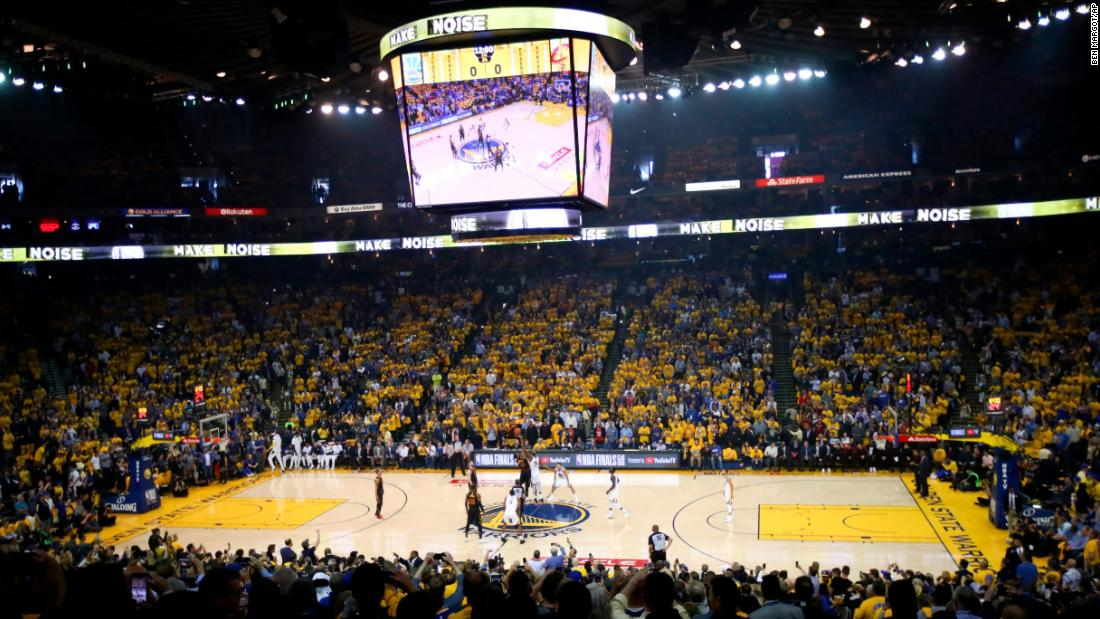 The two teams tip off to start the series at Oracle Arena in Oakland, California.