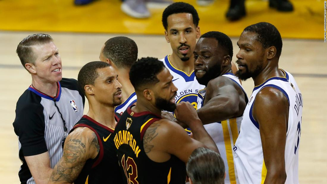 Green and Tristan Thompson get involved in an altercation late in overtime.