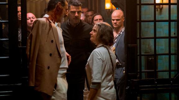 Jeff Goldblum, Zachary Quinto and Jodie Foster in 'Hotel Artemis'