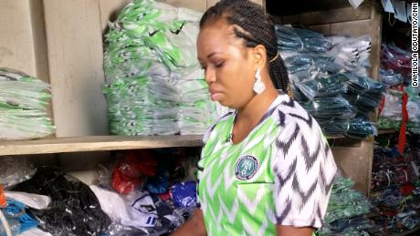 detailed look b1b7f 17425 Nigeria World Cup kit sells out in minutes as fakes flood ...