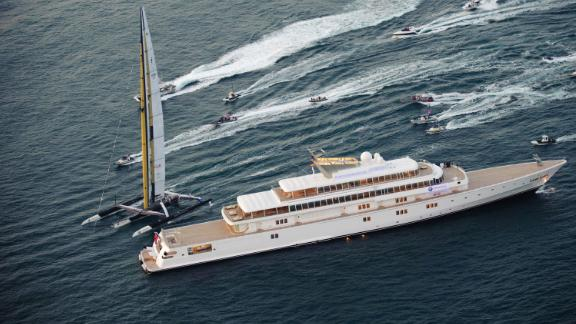 Rising Sun, previously owned by Oracle founder Larry Ellison, is seen during the 2010 America