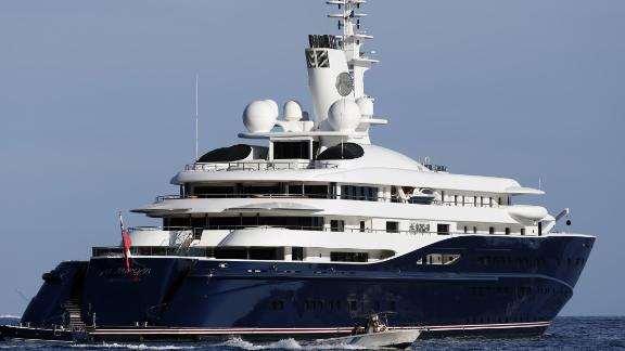 The 133-meter yacht Al Mirqab -- owned by Qatar