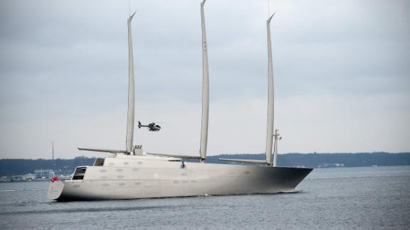 The luxury sail-assisted motor yacht Sailing Yacht A is estimated to have cost $450 million. Owned by Russian industrialist Andrey Melnichenko, it was built in Kiel, Germany and designed by Philippe Starck. The yacht