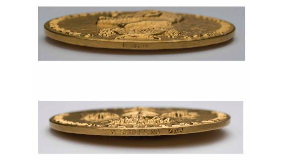 Schelling's first initials and last name are engraved on the medal's rim, along with the year it was awarded.