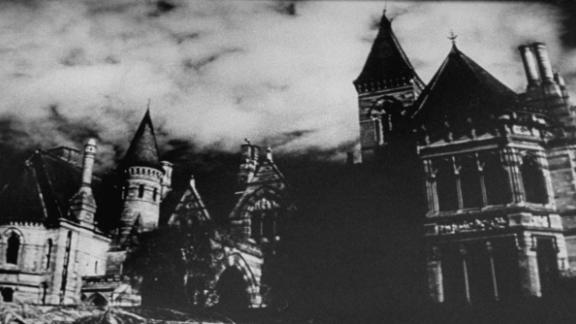 """""""The Haunting"""" -- Ettington Park in Warwickshire, England was the setting for this haunted house classic. Interiors were shot at MGM-British Studios with a number of tricks including extreme high and low angle shots building a sense of claustrophobia."""