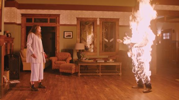 """""""Hereditary"""" -- Ari Aster's debut feature has shot into headlines as arguably this year's scariest movie. Underpinning the drama is a disturbing family home where misdeeds abound and tensions -- domestic and supernatural -- run high. It's indebted to a long line of spooky houses on screen. Scroll through to discover CNN Style's top picks."""