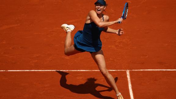 Maria Sharapova crushed Karolina Pliskova at the French Open.