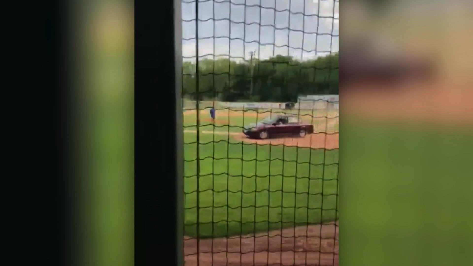 Police car barrels onto baseball field kills man cnn video malvernweather Image collections