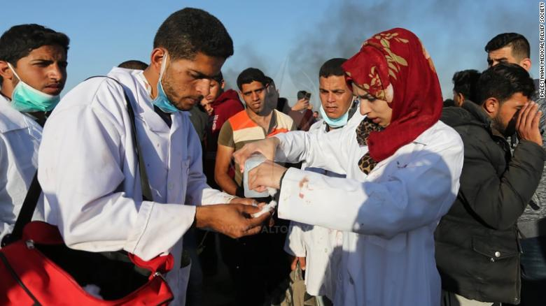 Palestinian nurse killed in protests mourned