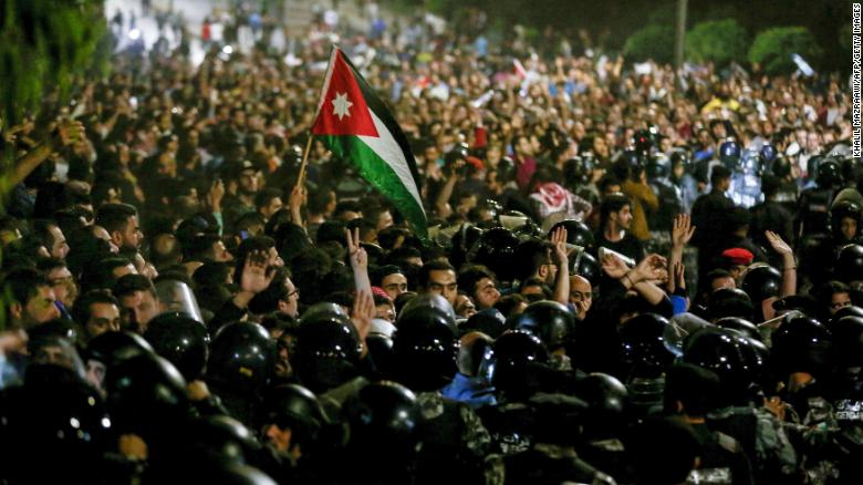 Protests continue in Jordan over tax reform