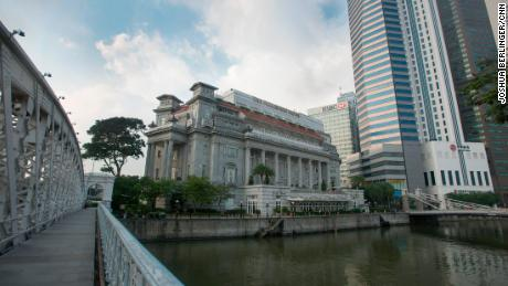 The Fullerton hotel in Singapore.