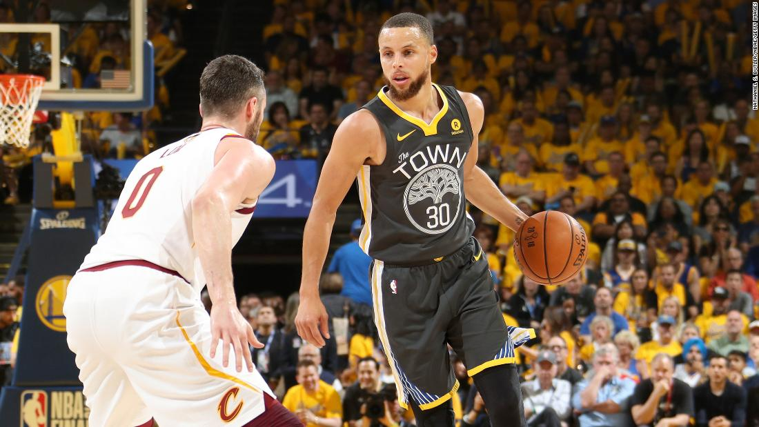 <strong>Most 3-pointers made in an NBA Finals game:</strong> Golden State's Stephen Curry hit nine 3-pointers in Game 2 of the 2018 NBA Finals. He had 33 points as the Warriors took a 2-0 series lead over Cleveland.