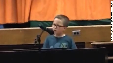 10-year-old boy wows with 'Imagine' cover