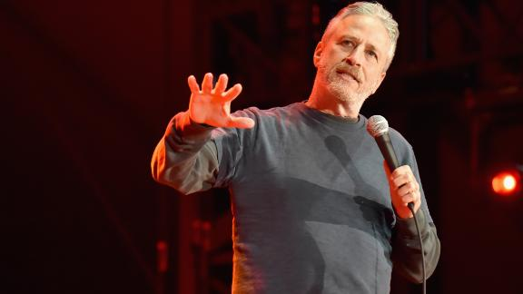 Jon Stewart performs on the Colossal Stage during Clusterfest at Civic Center Plaza and The Bill Graham Civic Auditorium on June 3, 2018 in San Francisco, California.