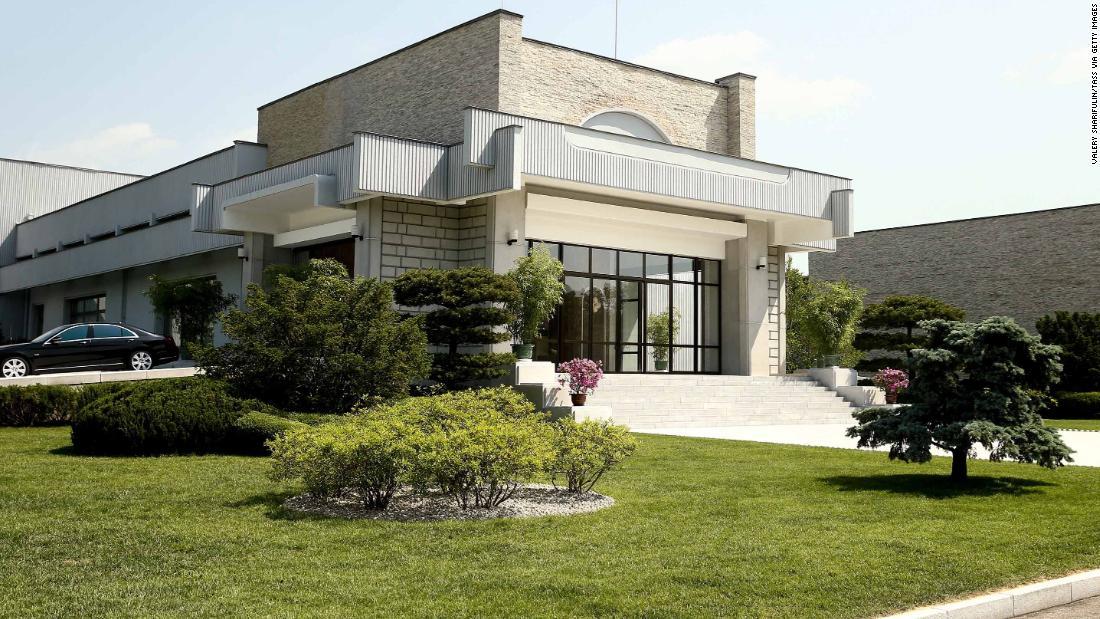 Rare glimpse inside residence where Kim met Lavrov