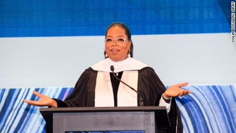 Oprah Winfrey speaks at the SCAD commencement in Atlanta.